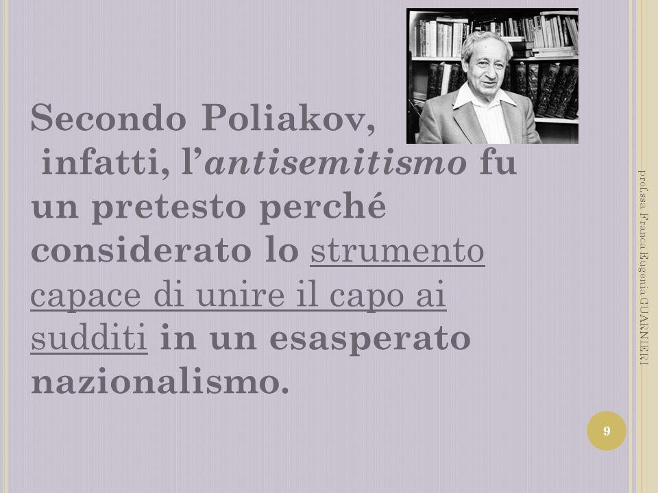 Secondo Poliakov,