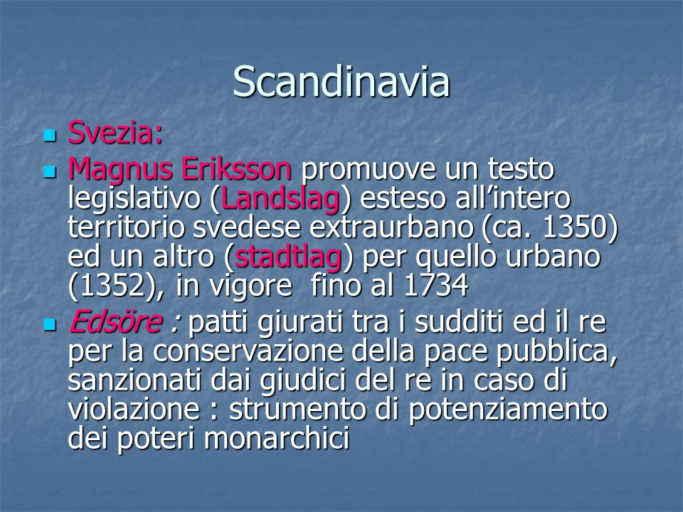Scandinavia Svezia: