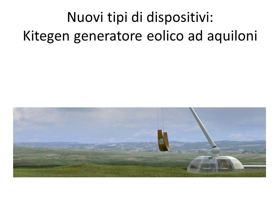 Nuovi tipi di dispositivi: Kitegen generatore eolico ad aquiloni
