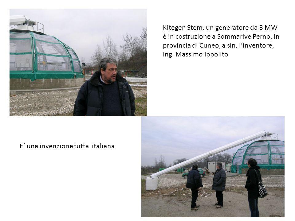 Kitegen Stem, un generatore da 3 MW è in costruzione a Sommarive Perno, in provincia di Cuneo, a sin. l'inventore,