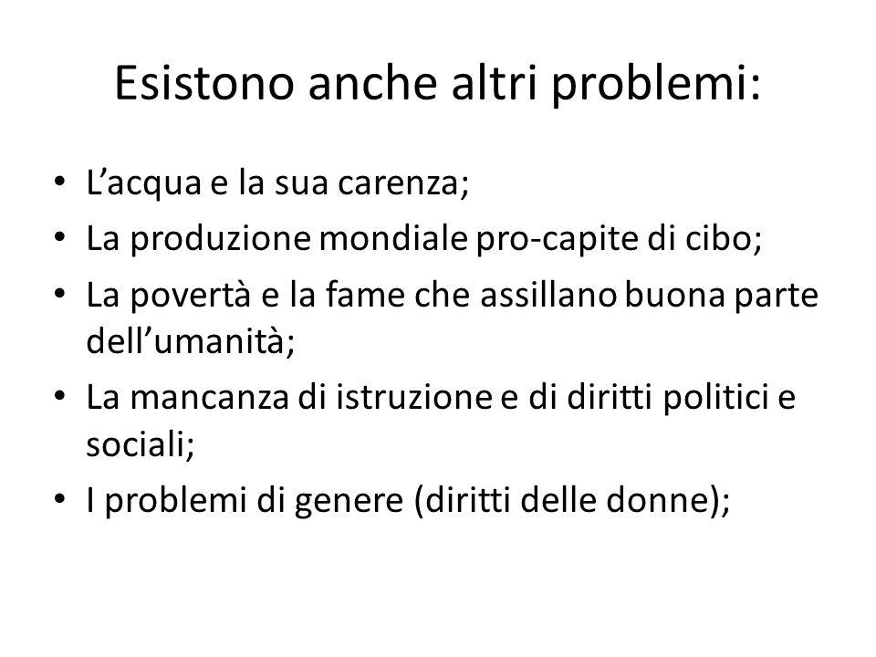 Esistono anche altri problemi: