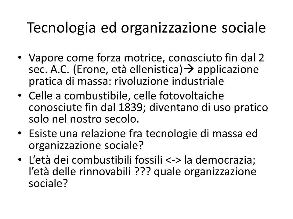 Tecnologia ed organizzazione sociale