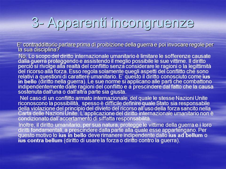 3- Apparenti incongruenze