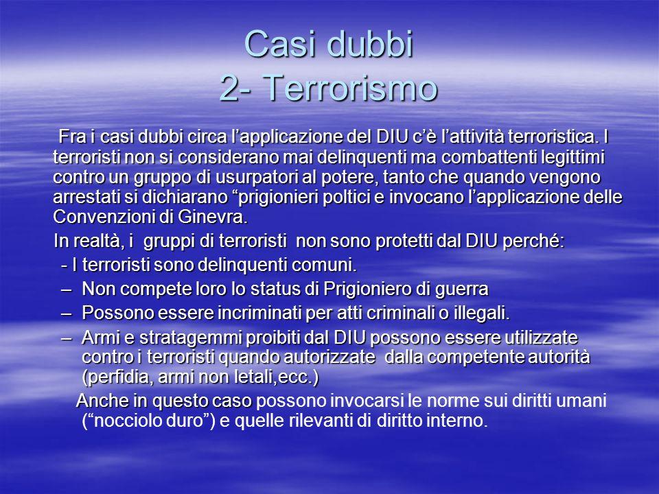 Casi dubbi 2- Terrorismo