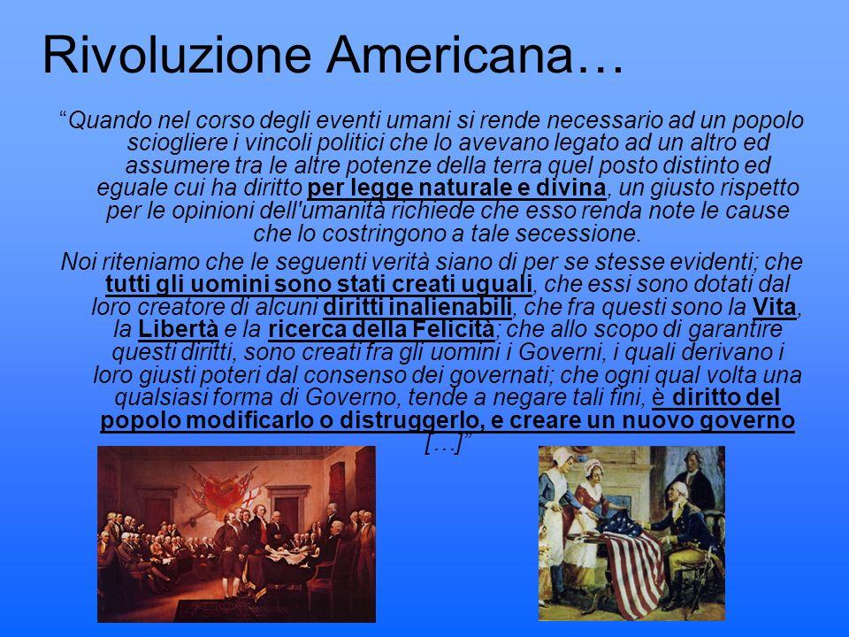 Rivoluzione Americana…