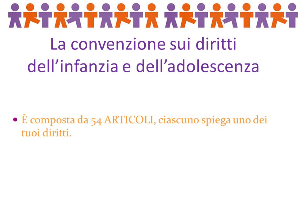 La convenzione sui diritti dell'infanzia e dell'adolescenza