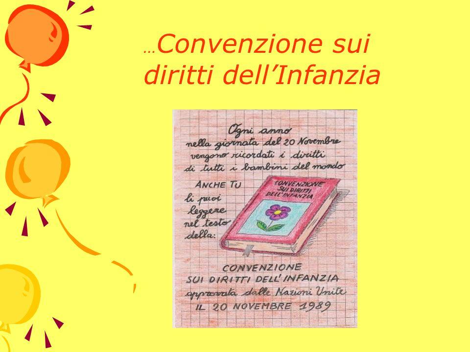 …Convenzione sui diritti dell'Infanzia