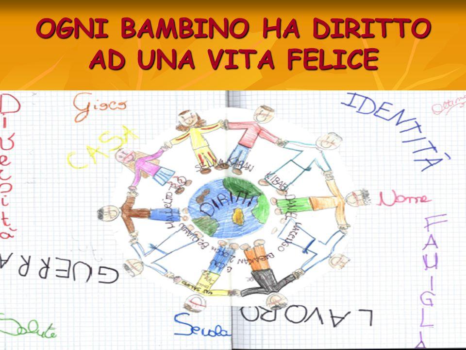 OGNI BAMBINO HA DIRITTO AD UNA VITA FELICE