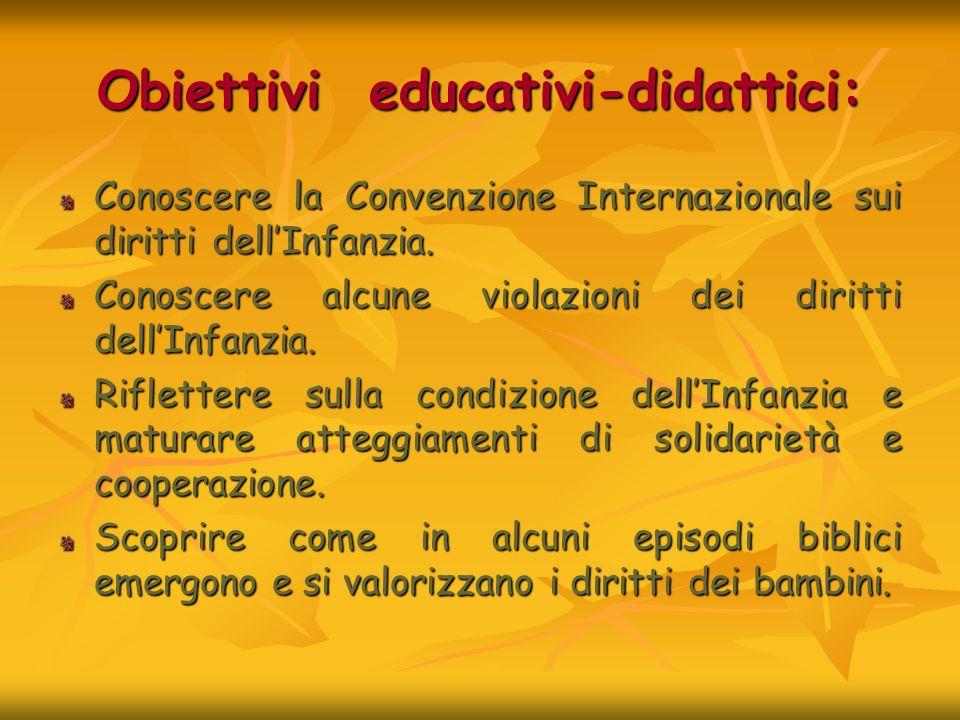 Obiettivi educativi-didattici: