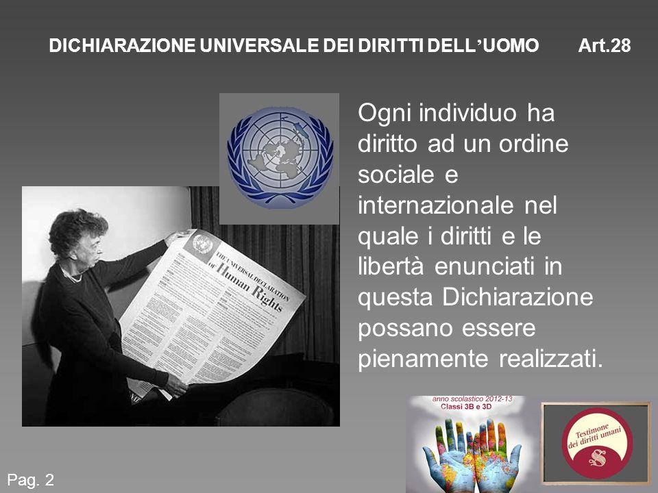 DICHIARAZIONE UNIVERSALE DEI DIRITTI DELL'UOMO Art.28
