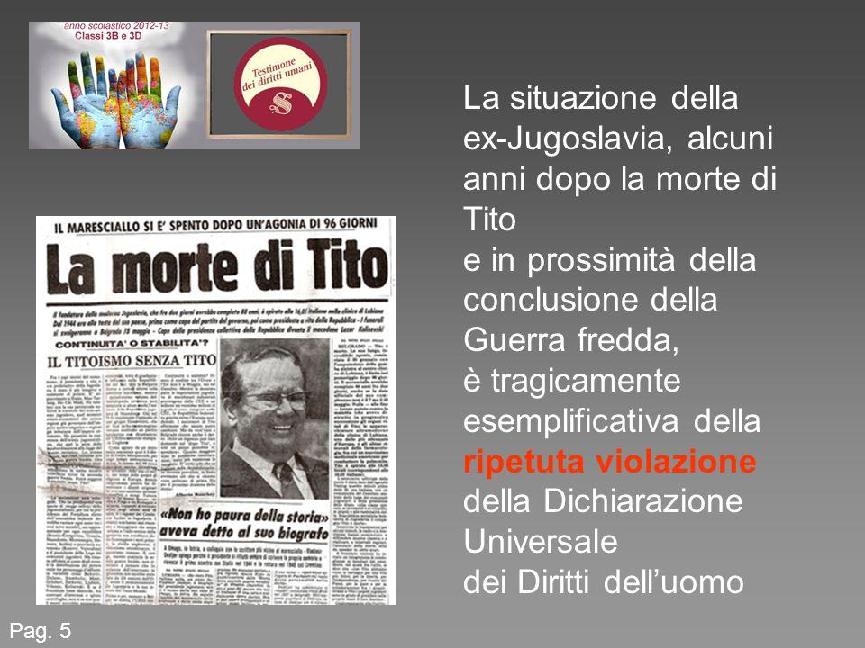 ex-Jugoslavia, alcuni anni dopo la morte di Tito
