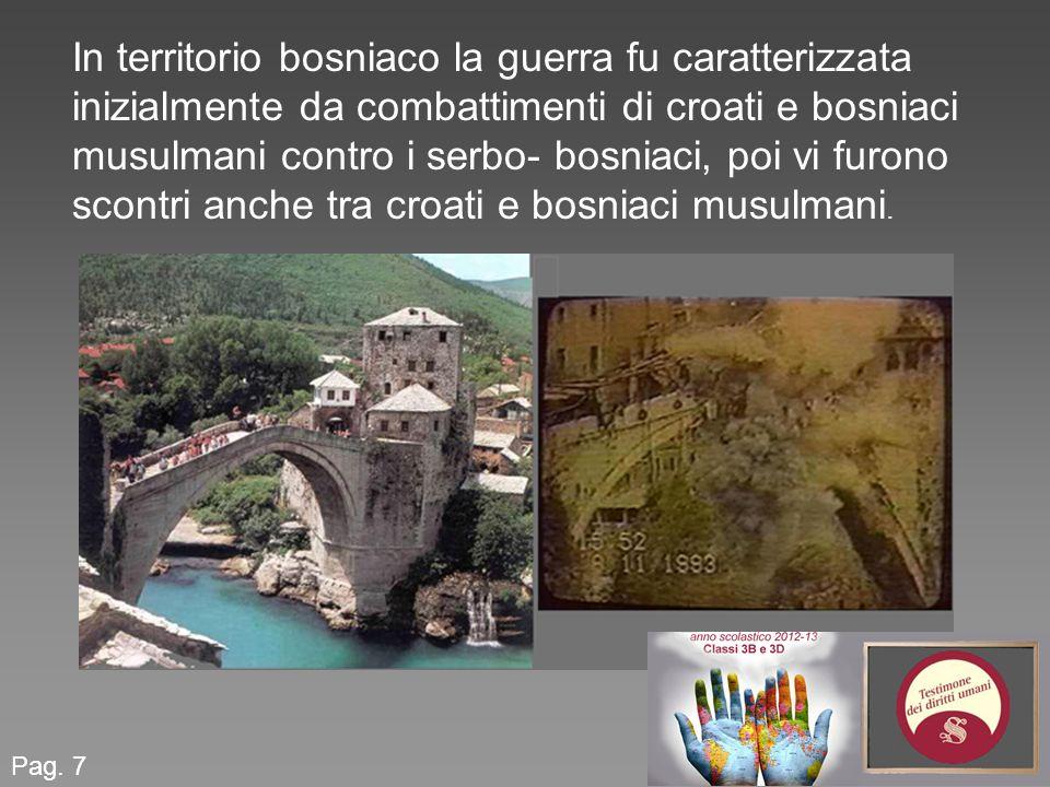 In territorio bosniaco la guerra fu caratterizzata inizialmente da combattimenti di croati e bosniaci musulmani contro i serbo- bosniaci, poi vi furono scontri anche tra croati e bosniaci musulmani.