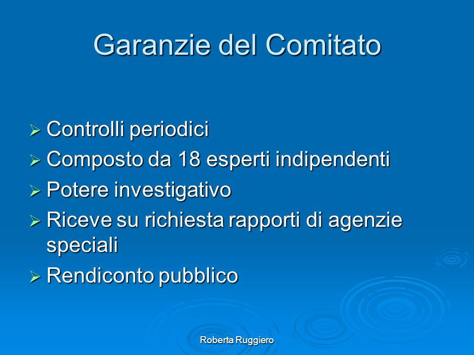 Garanzie del Comitato Controlli periodici