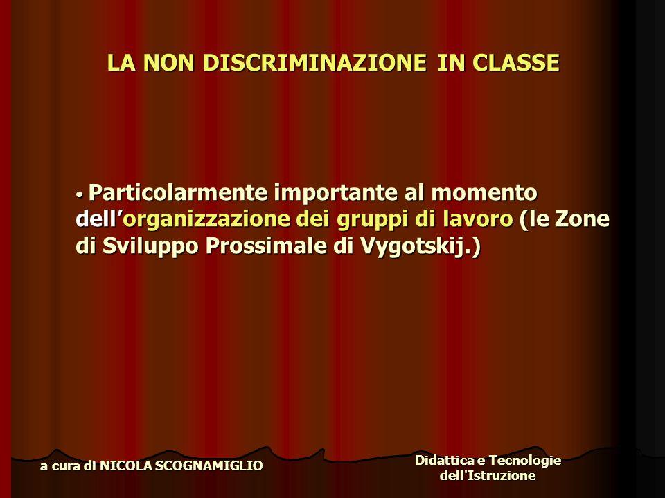 LA NON DISCRIMINAZIONE IN CLASSE
