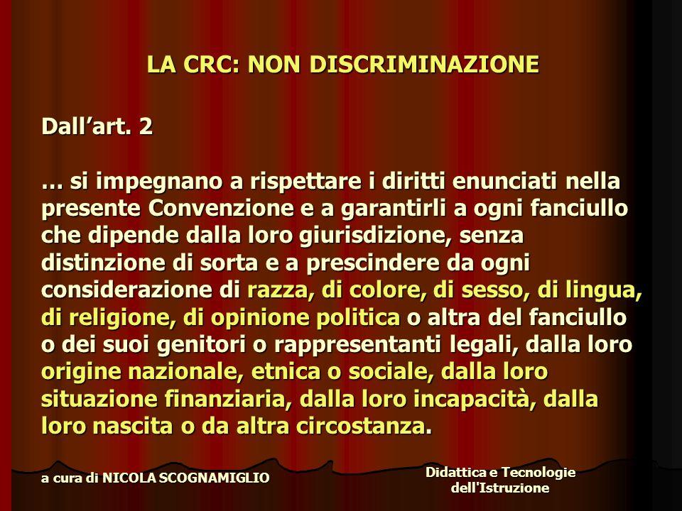 LA CRC: NON DISCRIMINAZIONE
