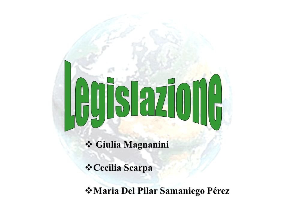 Legislazione Giulia Magnanini Cecilia Scarpa