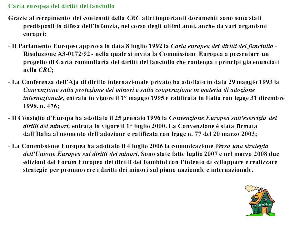 Carta europea dei diritti del fanciullo
