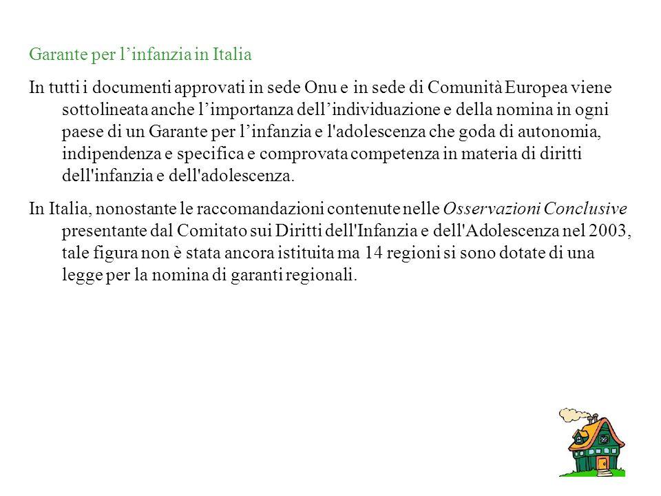 Garante per l'infanzia in Italia