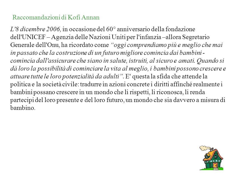 Raccomandazioni di Kofi Annan