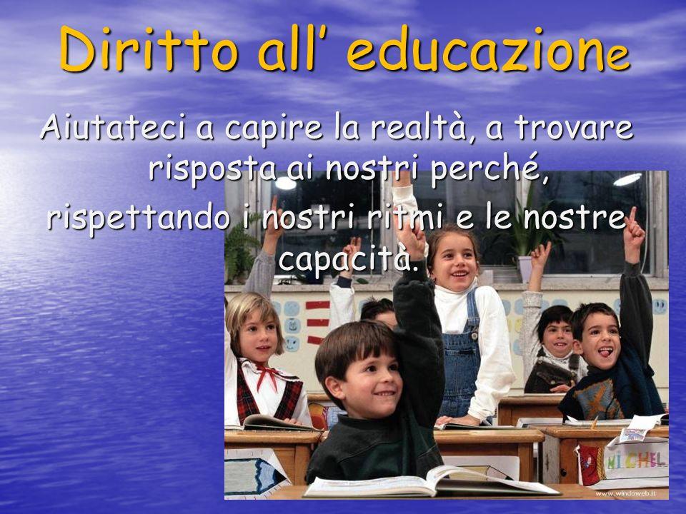 Diritto all' educazione