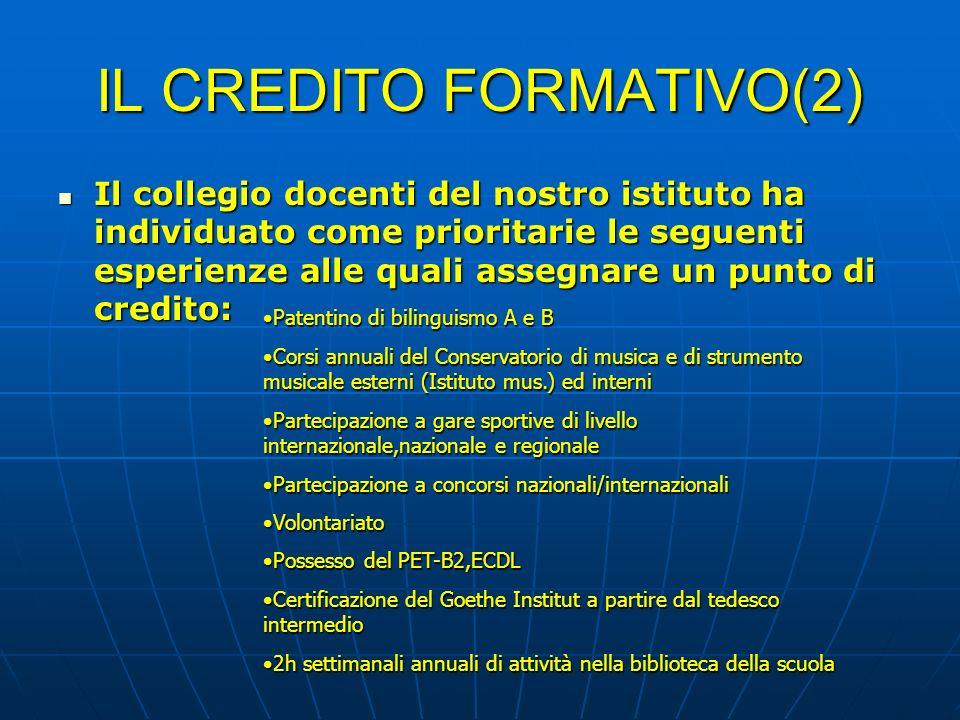 IL CREDITO FORMATIVO(2)