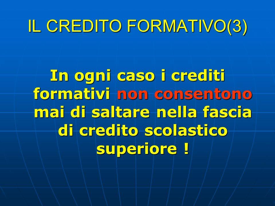 IL CREDITO FORMATIVO(3)