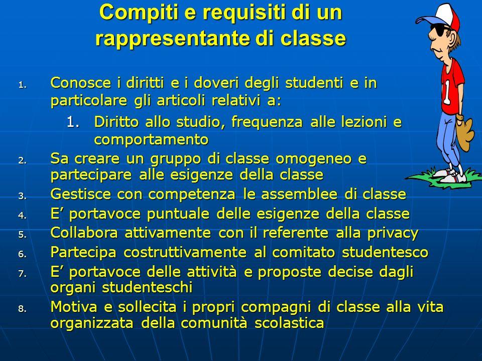 Compiti e requisiti di un rappresentante di classe