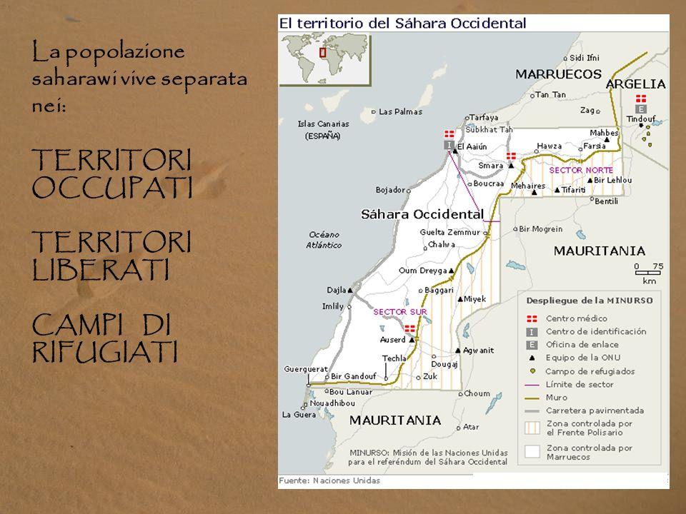 La popolazione saharawi vive separata nei: