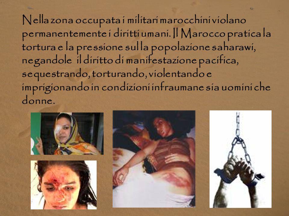 Nella zona occupata i militari marocchini violano permanentemente i diritti umani.