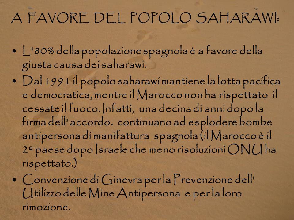 A FAVORE DEL POPOLO SAHARAWI: