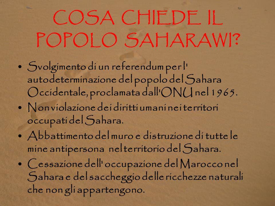 COSA CHIEDE IL POPOLO SAHARAWI