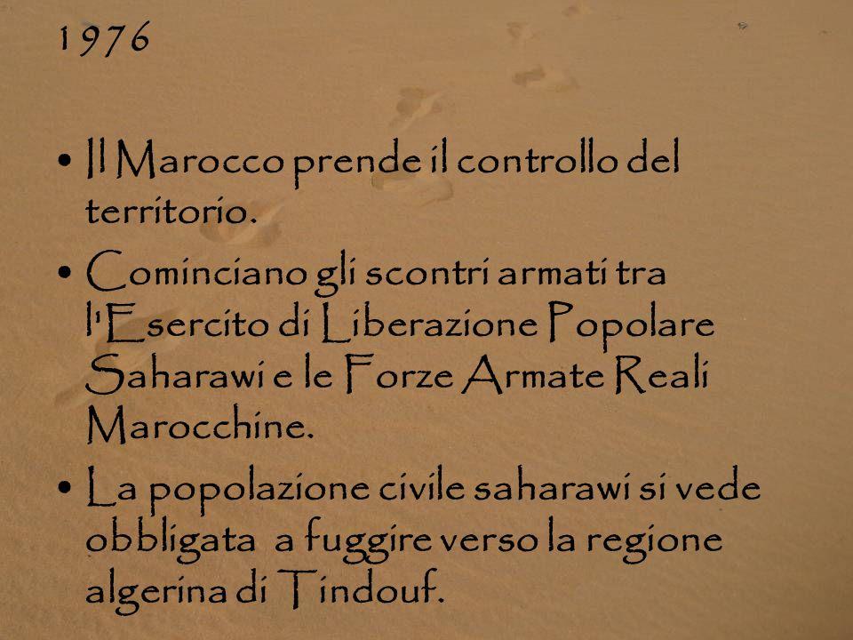 1976 Il Marocco prende il controllo del territorio.