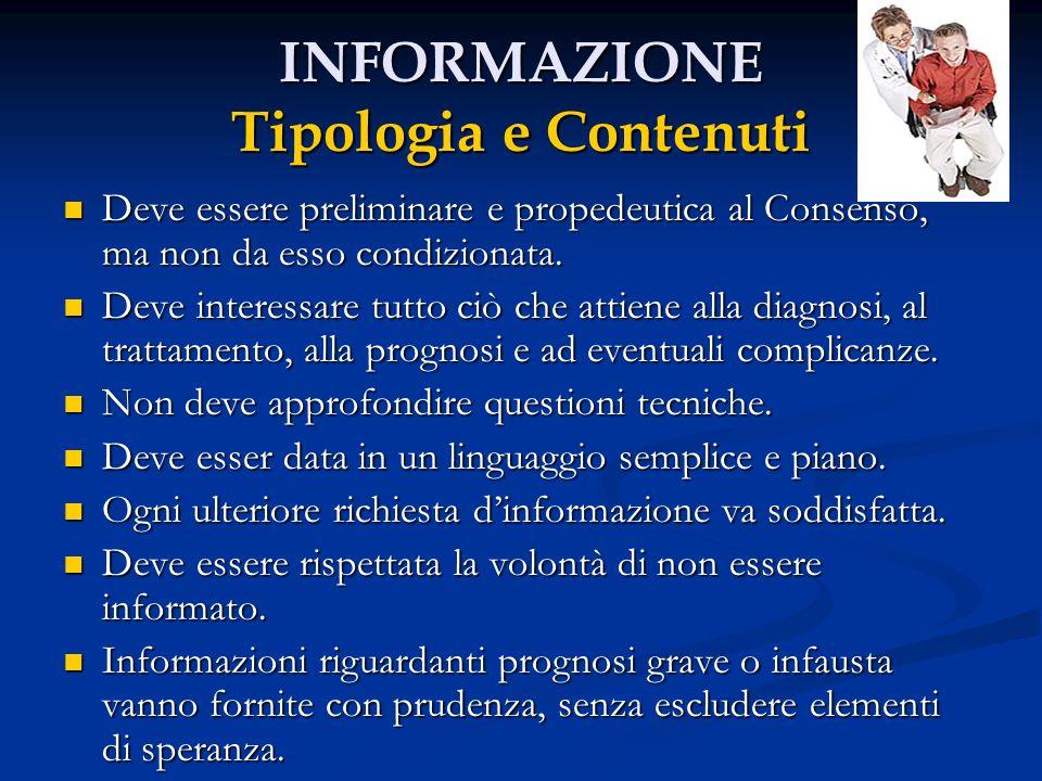 INFORMAZIONE Tipologia e Contenuti