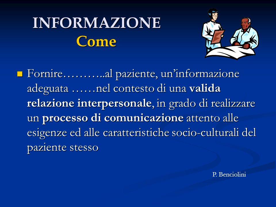 INFORMAZIONE Come