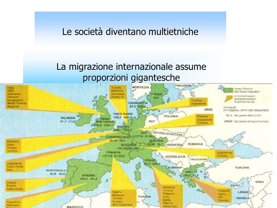 Le società diventano multietniche