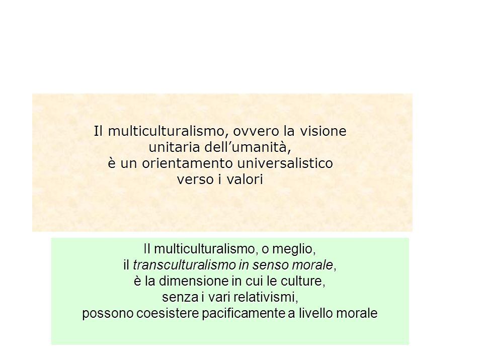 Il multiculturalismo, ovvero la visione unitaria dell'umanità,