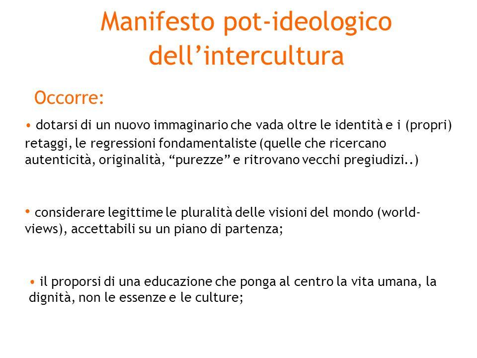 Manifesto pot-ideologico dell'intercultura