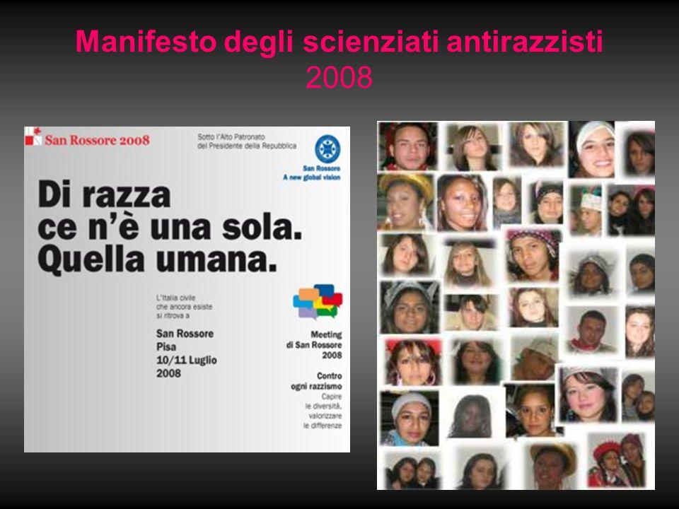 Manifesto degli scienziati antirazzisti 2008