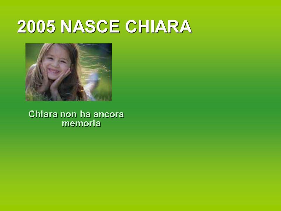Chiara non ha ancora memoria