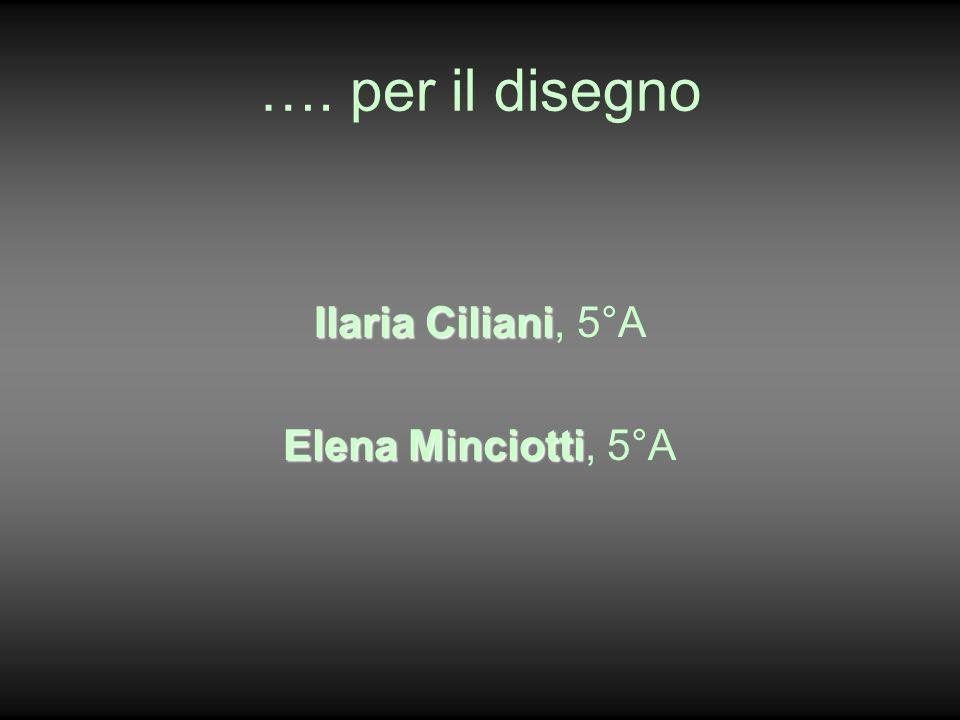 …. per il disegno Ilaria Ciliani, 5°A Elena Minciotti, 5°A
