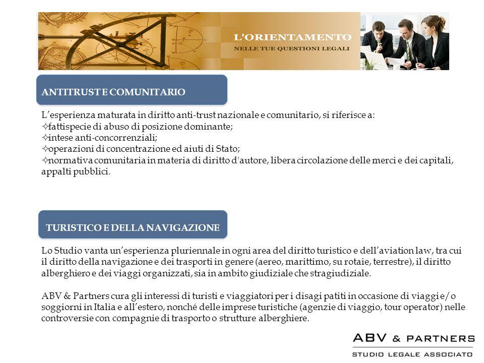ANTITRUST E COMUNITARIO