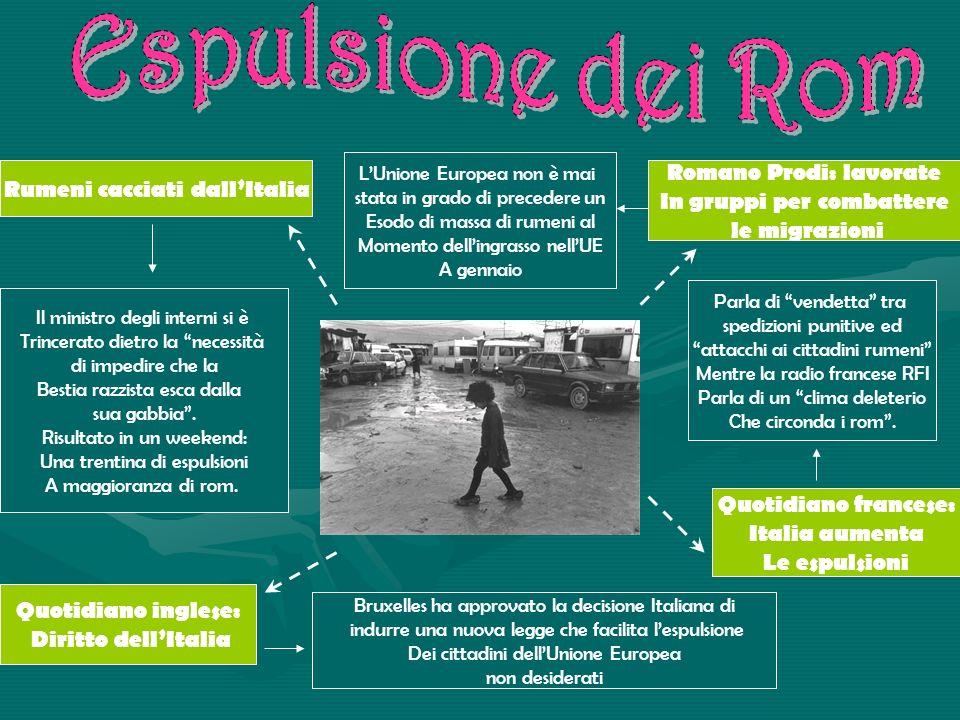 Espulsione dei Rom Romano Prodi: lavorate Rumeni cacciati dall'Italia