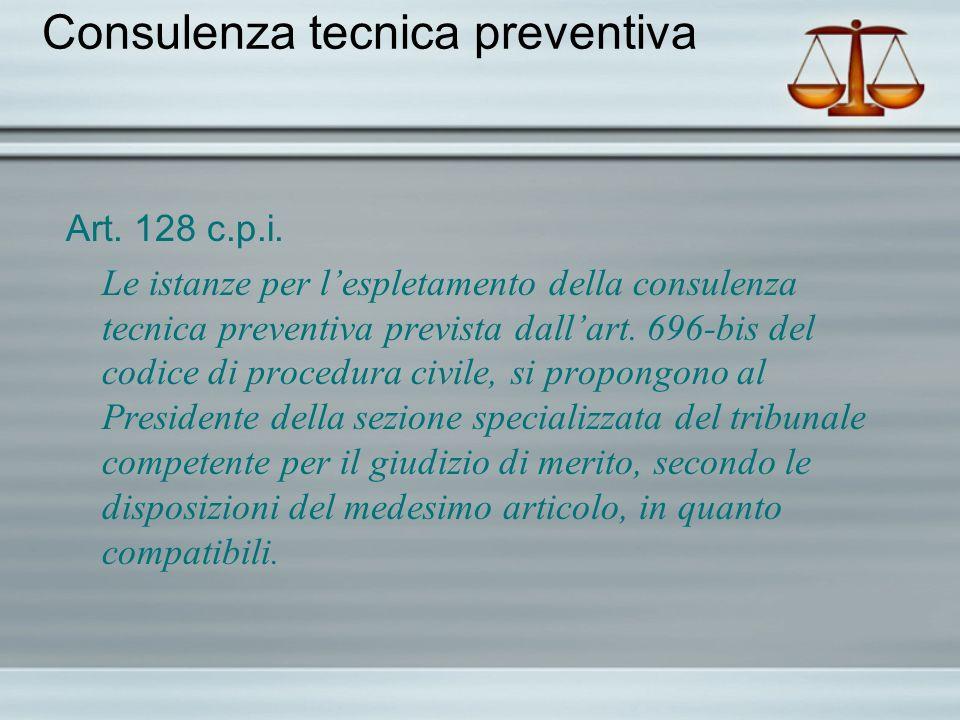 Consulenza tecnica preventiva