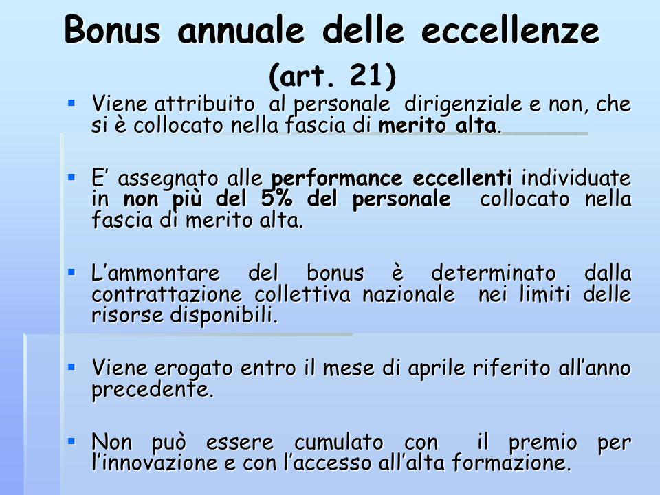Bonus annuale delle eccellenze (art. 21)