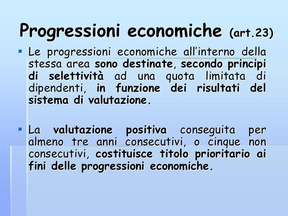 Progressioni economiche (art.23)
