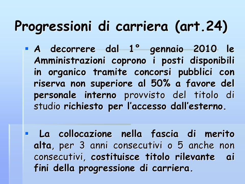 Progressioni di carriera (art.24)
