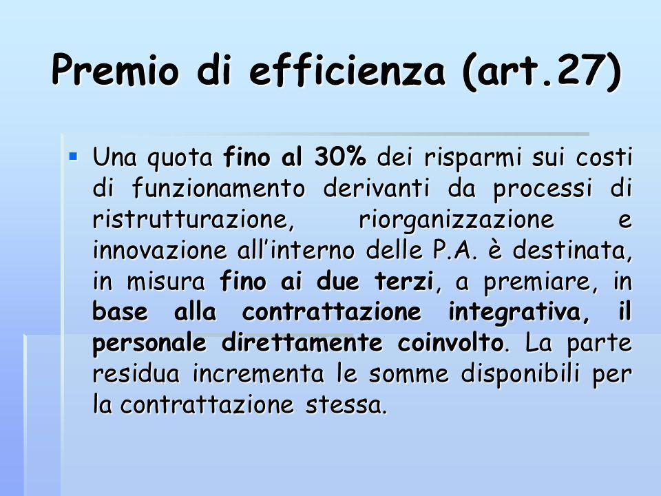 Premio di efficienza (art.27)