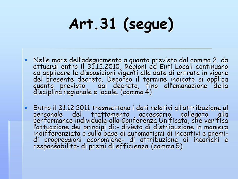 Art.31 (segue)