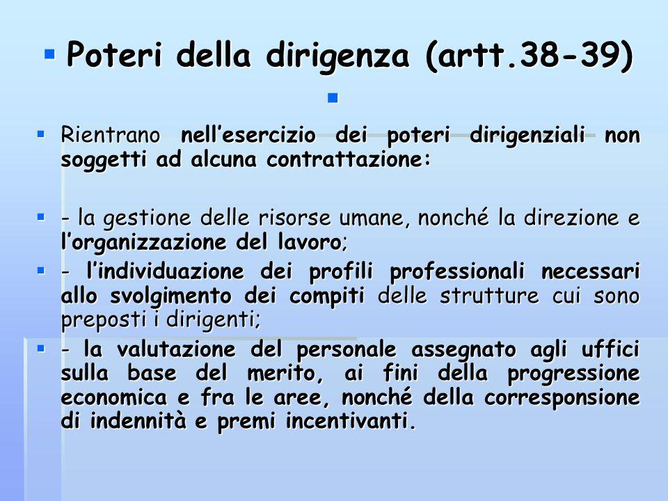 Poteri della dirigenza (artt.38-39)