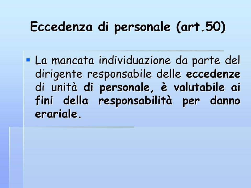 Eccedenza di personale (art.50)